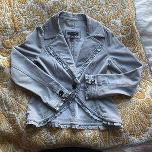 Gray velvet blazer